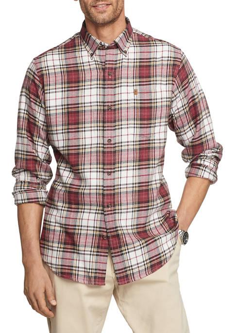IZOD Flannel Plaid Button-Down Shirt