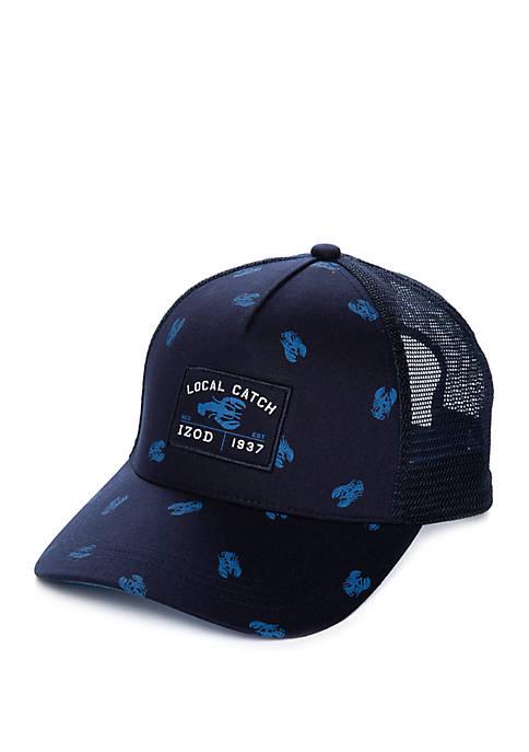 IZOD Local Catch Lobster Schiffli Trucker Hat