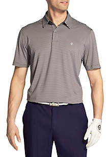 Short Sleeve Greenie Stripe Golf Polo