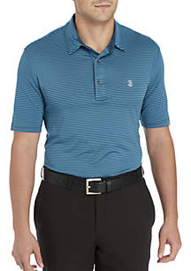 Short Sleeve Greenie Stripe Golf Polo