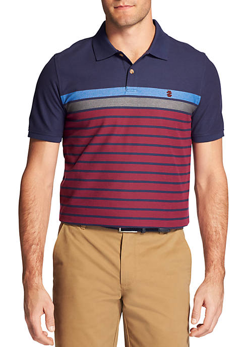 IZOD Big & Tall Advantage Performance Engineered Stripe