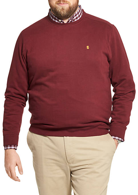 Big & Tall Fleece Crew Neck Pullover
