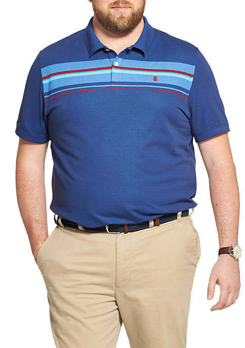 IZOD Big & Tall Advantage Performance Striped Polo
