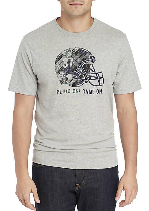 IZOD Big & Tall Plaid Helmet Tee Shirt