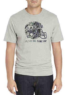 61d22e79e2d4 IZOD Big   Tall Plaid Helmet Tee Shirt ...