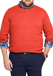 Big & Tall Premium Essentials Long Sleeve V-Neck Sweater