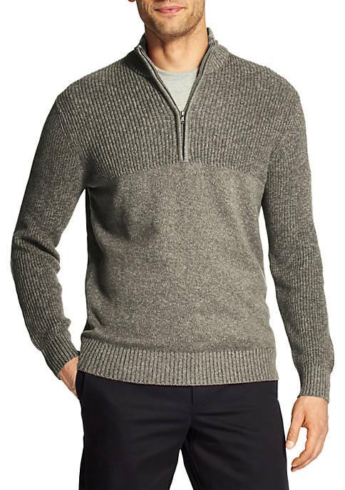 Big & Tall Newport Marled Quarter Zip Sweater