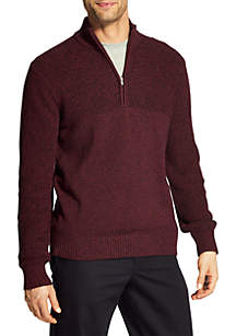 Big and Tall Newport Marled Quarter Zip Sweater