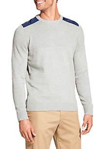 IZOD Big & Tall Newport Engineered Texture Sweater