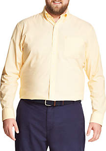 IZOD Big & Tall Long Sleeve Solid Stretch Poplin