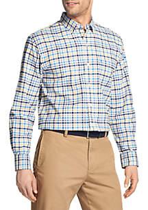 Big & Tall Long Sleeve Small Plaid Saltwater Oxford Shirt