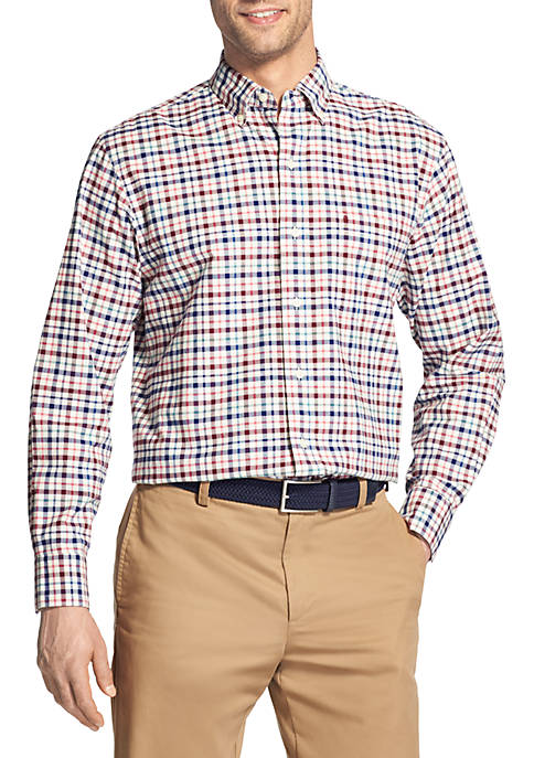 IZOD Big & Tall Long Sleeve Small Plaid