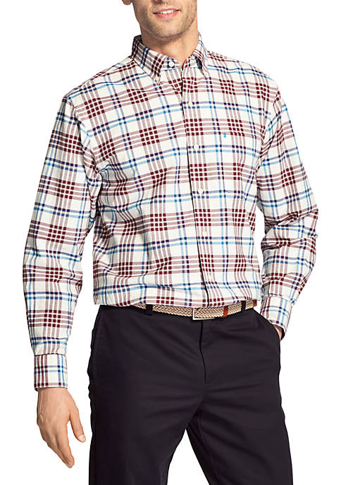 IZOD Medium Plaid Oxford Shirt