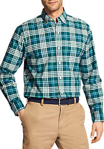 Big & Tall Medium Plaid Oxford Shirt