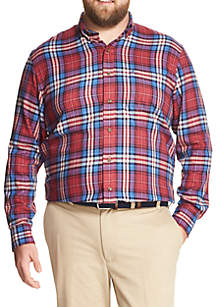 Big & Tall Long Sleeve Flannel Sportswear Button Down Shirt