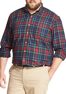 Big & Tall Long Sleeve Flannel Sportswear Button Down Shirt