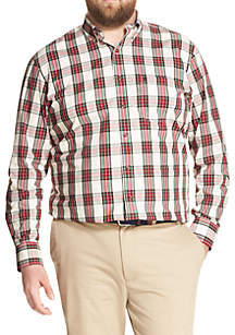 Big & Tall Long Sleeve Tartan Button Down Shirt