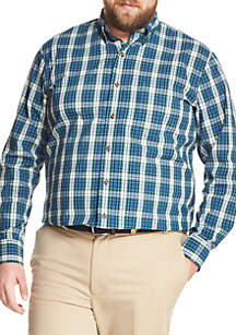 Big & Tall Holiday Tartan Shirt