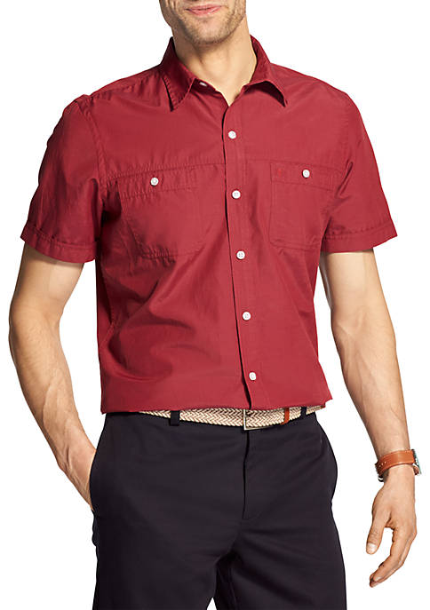 IZOD Big & Tall Breeze Short Sleeve Button
