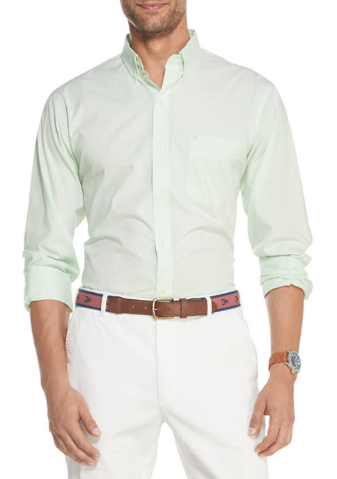 IZOD Big & Tall Premium Essentials Stretch Button