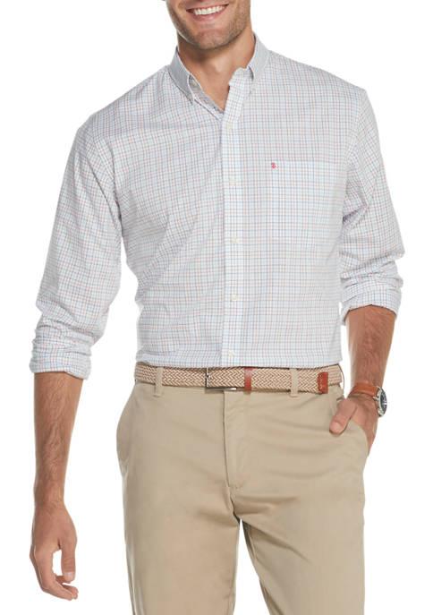 Big & Tall Premium Essentials Stretch Tattersall Button Down Shirt