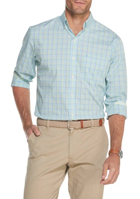 Big & Tall Premium Essentials Stretch Plaid Button Down Shirt