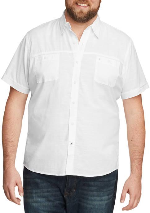 Big & Tall Dockside Chambray Short Sleeve Button Down Shirt
