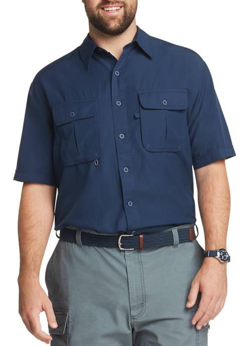 Big & Tall Saltwater Short Sleeve Button Up Shirt