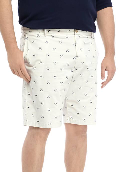 IZOD Big & Tall Saltwater Stretch Printed Shorts