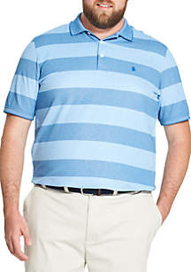 Big and Tall Advantage Performance Striped Polo Shirt