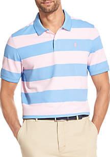 IZOD Big & Tall Advantage Performance Striped Polo Shirt