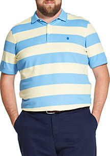 Big and Tall Advantage Performance Striped Polo Shirt