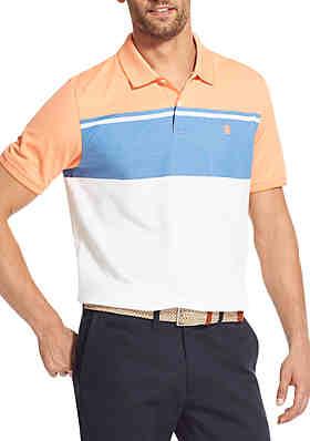 ccb2366c IZOD Big & Tall Advantage Performance Color Block Polo Shirt ...