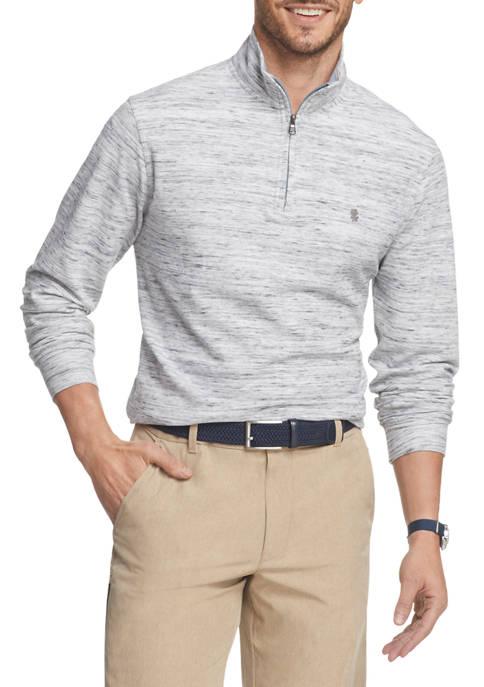 IZOD Big & Tall Saltwater Quarter Zip Sweater