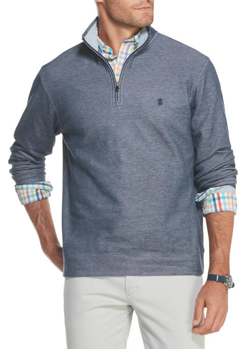 IZOD Big & Tall Saltwater Quarter Zip Sweater