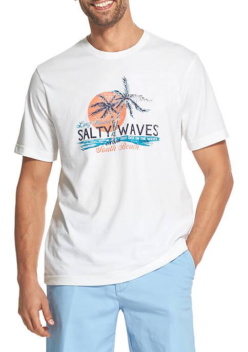 IZOD Big & Tall Salty Waves Graphic T-Shirt