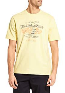 Big and Tall Coastal Resort Graphic T-Shirt