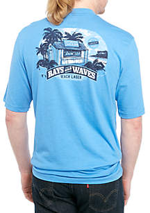 IZOD Big & Tall Rays And Waves Graphic T Shirt