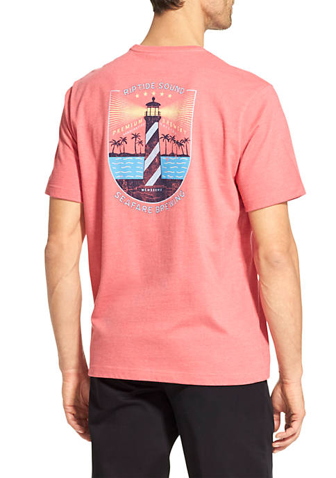 IZOD Big and Tall Seafare Brewing Graphic T-Shirt
