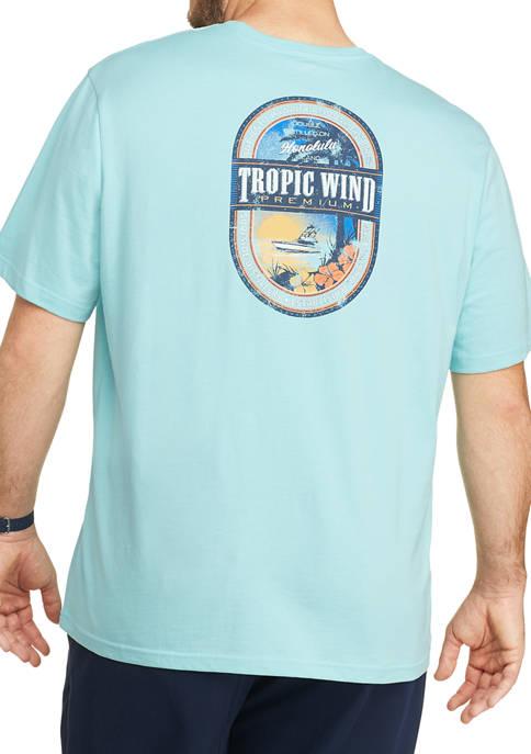 IZOD Big & Tall Short Sleeve Graphic T-Shirt