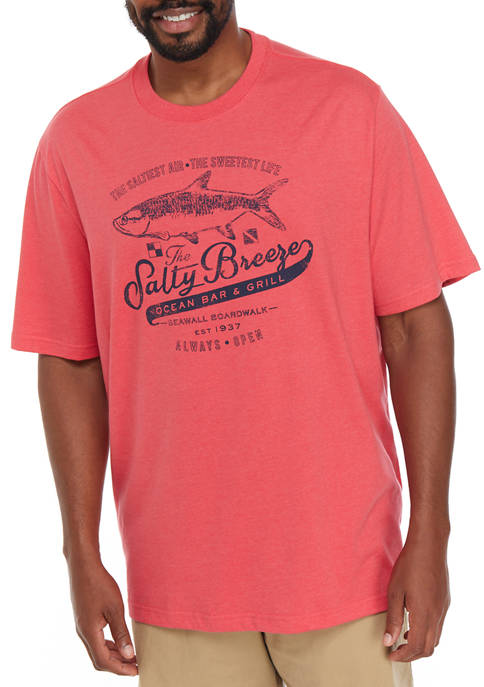 IZOD Big & Tall Saltwater Graphic T-Shirt