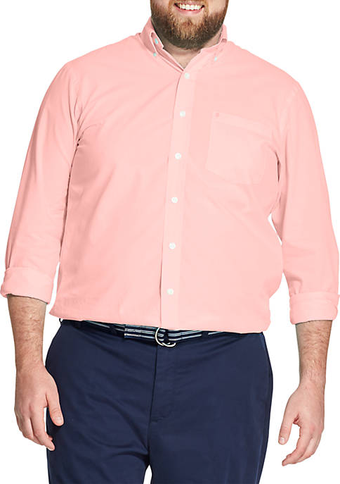 IZOD Big & Tall Premium Essentials Button Down