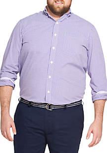 IZOD Big & Tall Premium Essentials Gingham Button-Down Shirt