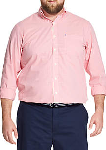Big & Tall Premium Essentials Gingham Button-Down Shirt