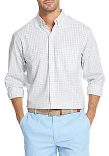 IZOD Big & Tall Premium Essentials Plaid Button Down Shirt