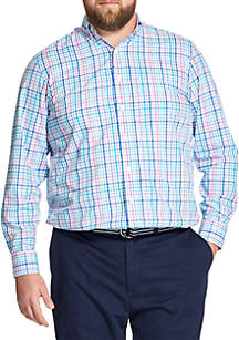 Big & Tall Premium Essentials Plaid Button Down Shirt