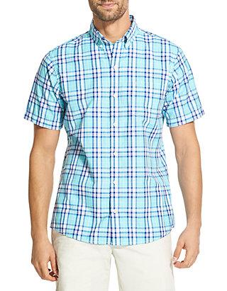 215a8c4a421 IZOD Big   Tall Breeze Plaid Short Sleeve Button Down Shirt ...