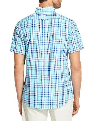 d78a1d38200 IZOD Big   Tall Breeze Plaid Short Sleeve Button Down Shirt