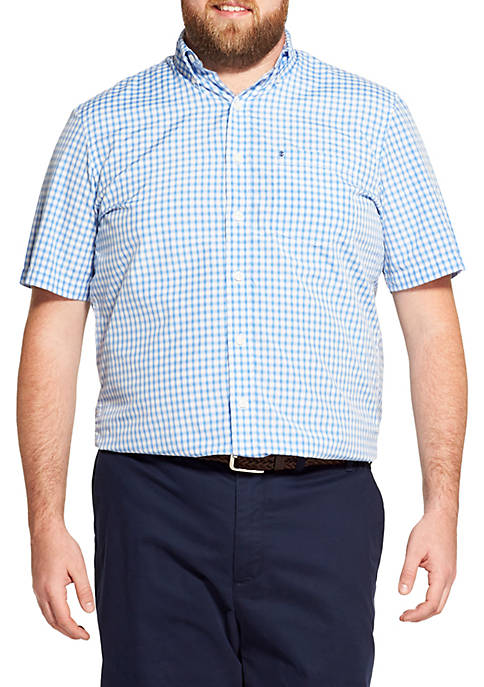 IZOD Big & Tall Breeze Gingham Short Sleeve