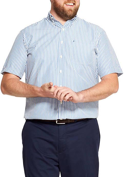 Big & Tall Breeze Striped Short Sleeve Button Down Shirt